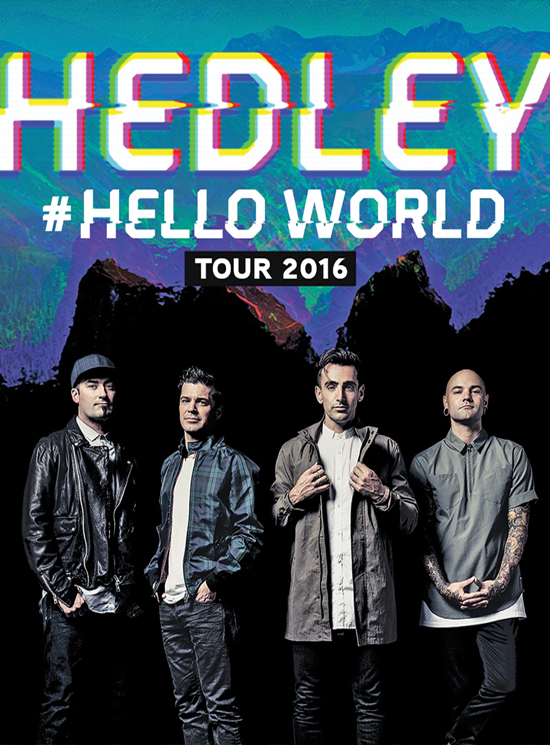 One of Canada's most popular bands, Hedley brings their Hello tour to St. John's. Frontman Jacob Hoggard talks George Street, artistic evolution and battling self-doubt.